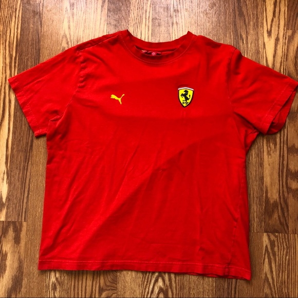 Vtg Puma x Ferrari Back Graphic T shirt